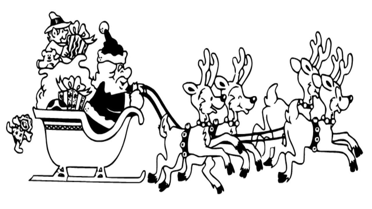 how to draw santa and his reindeers how to draw santas