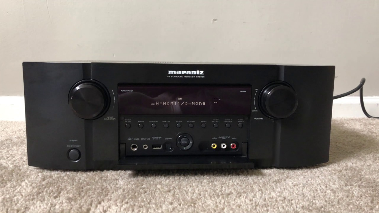 How To Factory Reset Marantz Sr5005 7 1 Hdmi Home Theater Surround Receiver Youtube