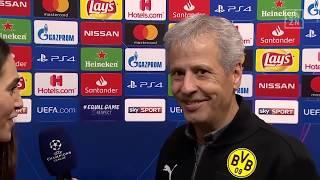 Lucien Favre im Interview mit DAZN nach Dortmund vs Brügge