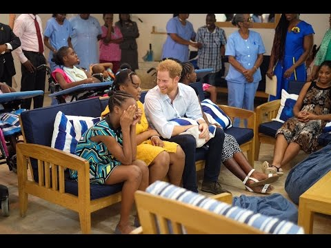 Prince Harry visits Nightengale Children's Home in Barbados