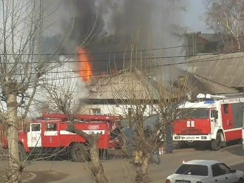 В Канске сгорел частный дом