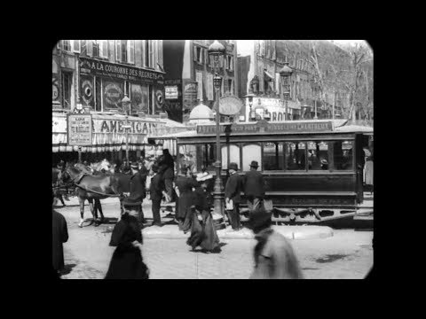 Apr 11, 1896 - High Street in Marseille, France (speed corrected w/ added sound)