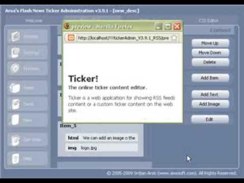 News Ticker Application - The online ticker content editor