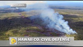 Civil Defense Eruption Update - September 6, 2014