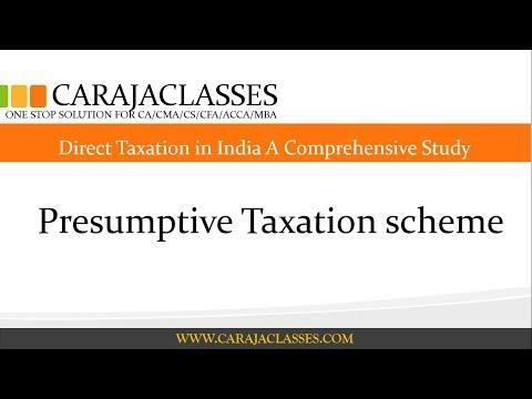 Presumptive Taxation Scheme