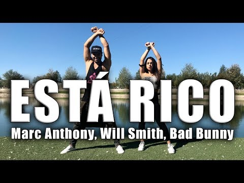 Marc Anthony, Will Smith, Bad Bunny   Está Rico Coreografia Zumba Sanzonetti