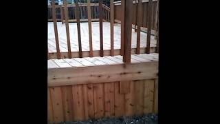 How To Best Way To Stain A Cedar Deck Deck