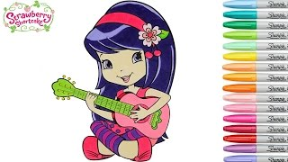 Strawberry Shortcake Coloring Book Pages Episode Cherry Jam  Speed COLORING Rainbow Splash rscb