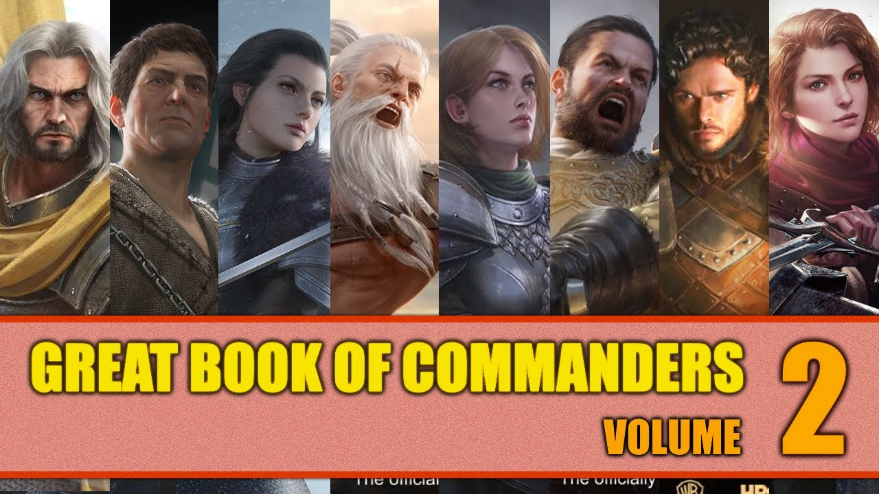 Great Book Of Commanders Volume 2 Masterclass Tierlist Game Of Thrones Winter Is Coming Youtube