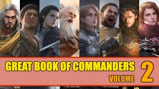 Great Book of Commanders - Volume 2 - Masterclass Tierlist - Game of Thrones Winter is Coming