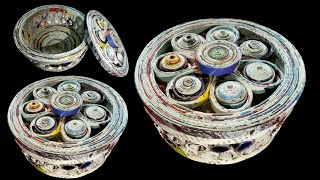 How To Make A Newspaper Basket | Best Out Of Waste Newspaper Craft | Home Decor