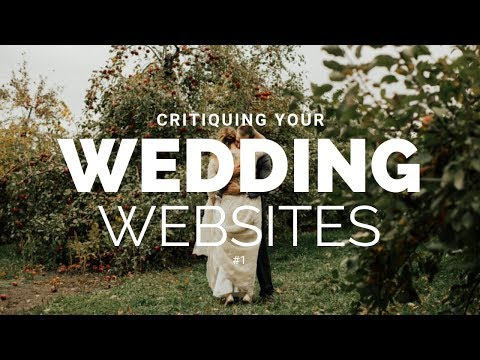 Critiquing YOUR Websites | Wedding Video Website Reviews #1