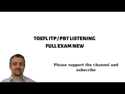 TOEFL ITP PBT LISTENING FULL EXAM NEW