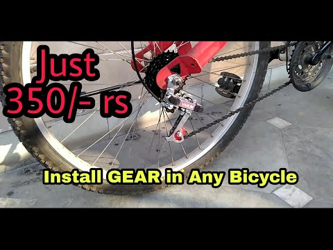 How to Install Gears in Any Bicycle   Cheapest MTB Gear   Shimano Killer?   Tutorial