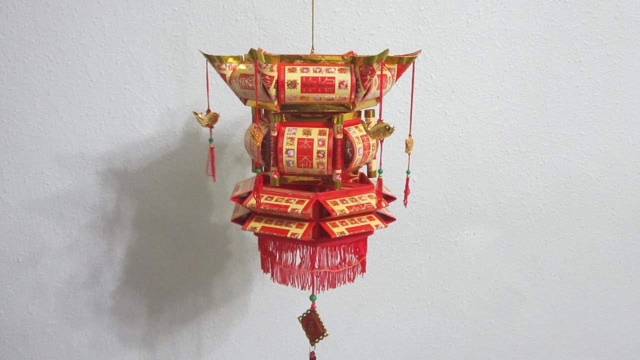 Cny tutorial no 17 how to make traditional red packet for Ang pao decoration