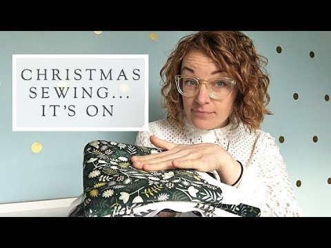 Sewing for Christmas with Spoonflower || The Fold Line