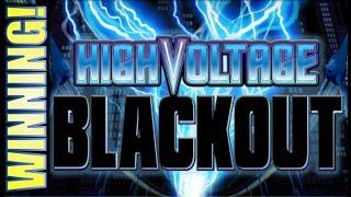 ★HIGH VOLTAGE BLACKOUT★ WILDS! NICE RUN! Slot Machine Bonus (EVERI)