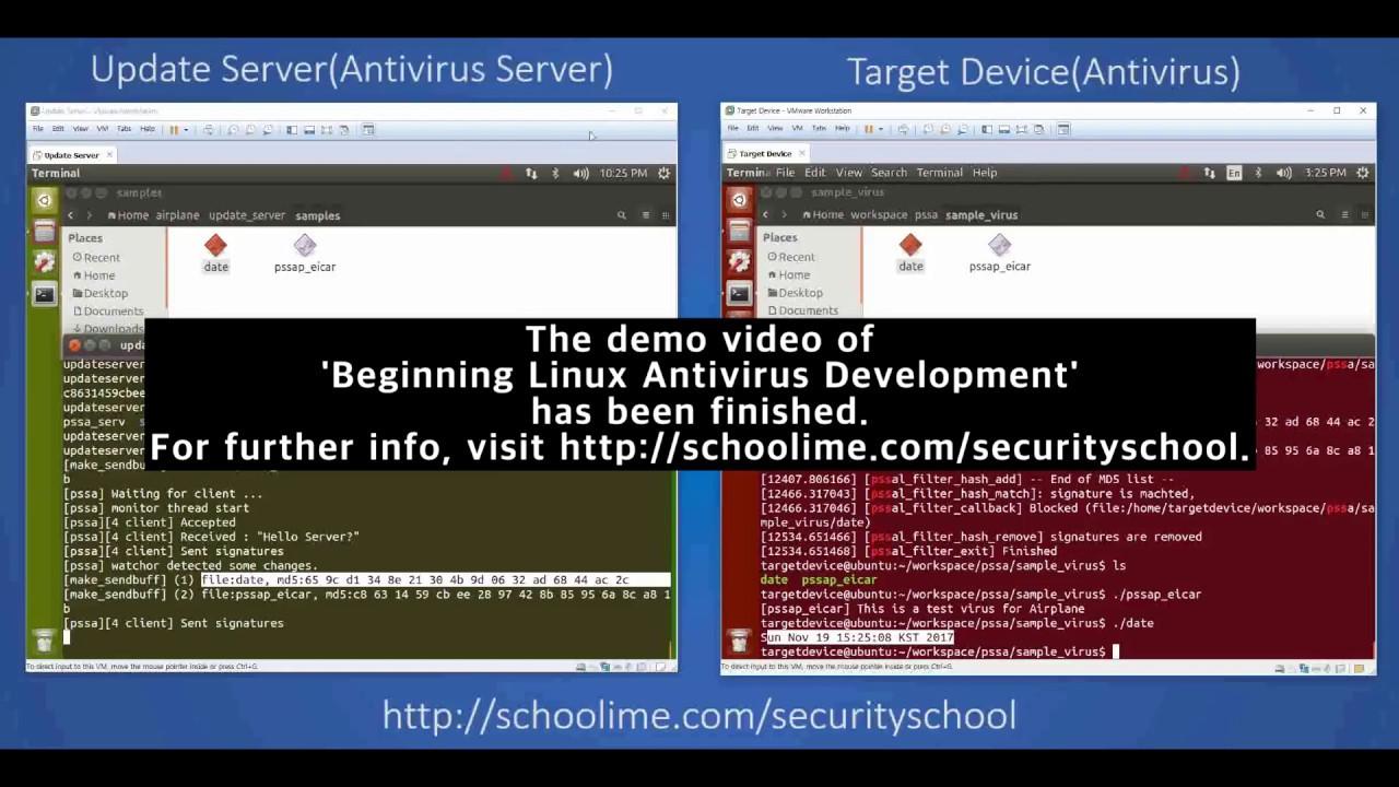 Beginning Linux Antivirus Development' – Demo Video