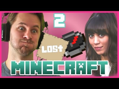 AMANDA'S LOST...AGAIN!  Minecraft w Amanda Part 2
