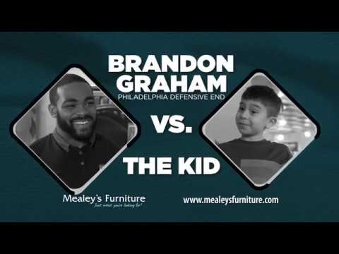 Brandon Graham Vs. The Rambunctious Kid @ Mealeyu0027s Furniture.  MealeysFurniture