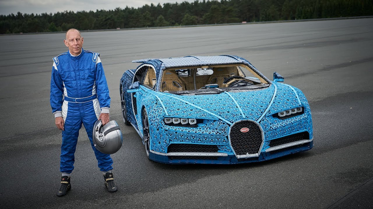 Working Life Size Bugatti Chiron Made From Lego Technic
