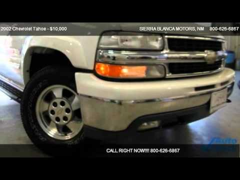 2002 Chevrolet Tahoe Lt For Sale In Ruidoso Nm 88355
