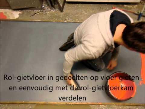 Decochip doe het zelf rol gietvloer aanbrengen epoxy pu youtube