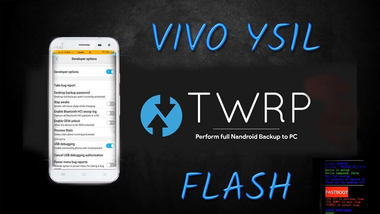 How to Flash Twrp 3 1 1 on VIVO Y51L 100% Working