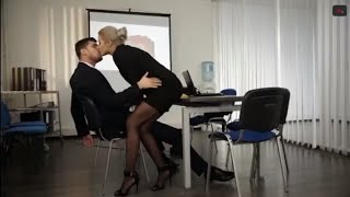 Hot kissing scene in office romantic and lovely couples kiss