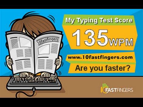 135 WPM   10 Fast Fingers   Keyboard Killer - YouTube
