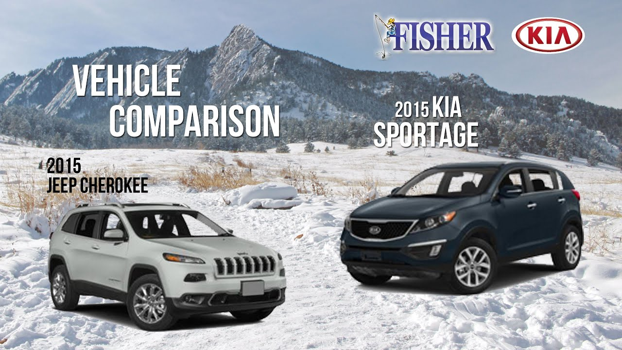 kia comparison 2015 kia sportage vs 2015 jeep cherokee. Black Bedroom Furniture Sets. Home Design Ideas
