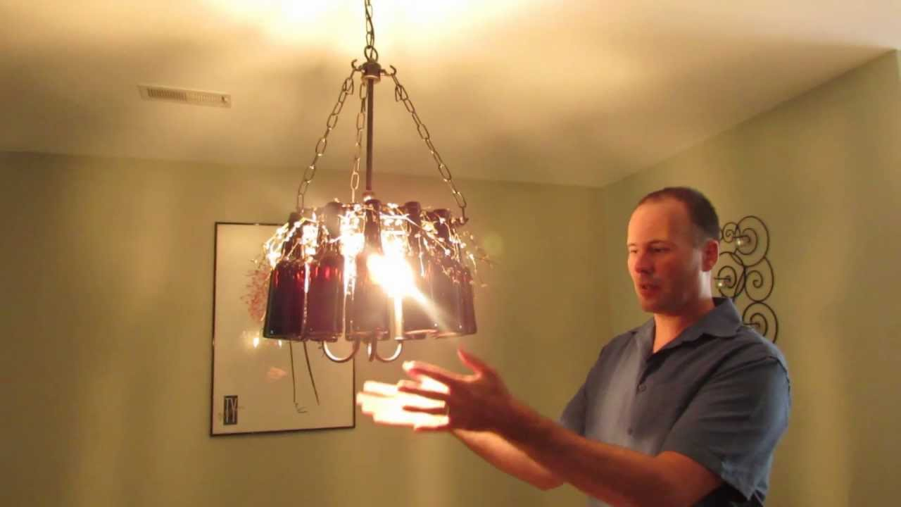 Make your own beer bottle chandelier diy project youtube aloadofball Choice Image