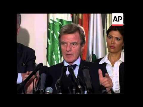 France Foreign Minister Kouchner visits Lebanon