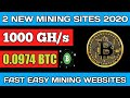 2020 New Launched Free Bitcoin Mining Site -Earn Daily 0 ...
