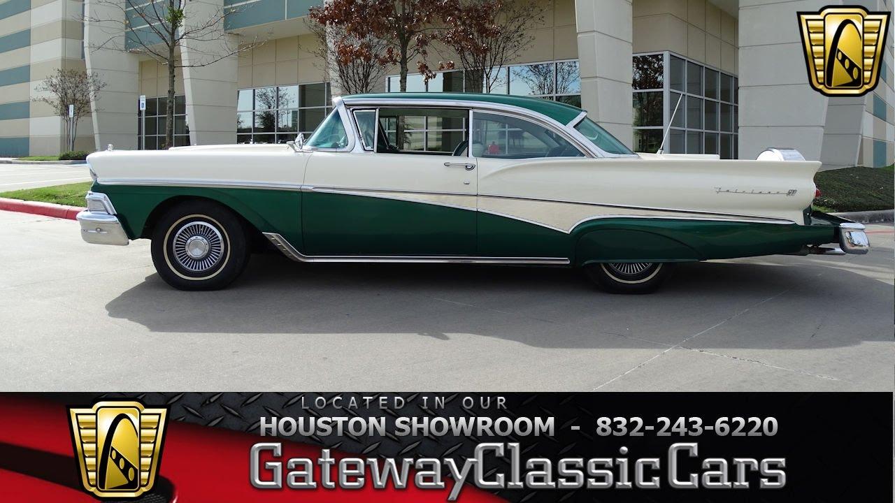 Classic Cars For Sale Houston Area: 1958 Ford Fairlane #586 Gateway Classic Cars Houston