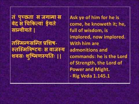 Rig Veda Hymns in Devanagari Sanskrit with English translations wmv