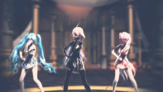【 MMD 】 Resonate (Hibikase) - ヒビカセ 【 TDA Short China Dress Haku, Luka & Miku 】 【 HD 720 】