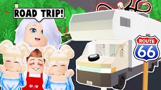 WE WENT ON A FAMILY ROAD TRIP ON BLOXBURG! (Roblox)