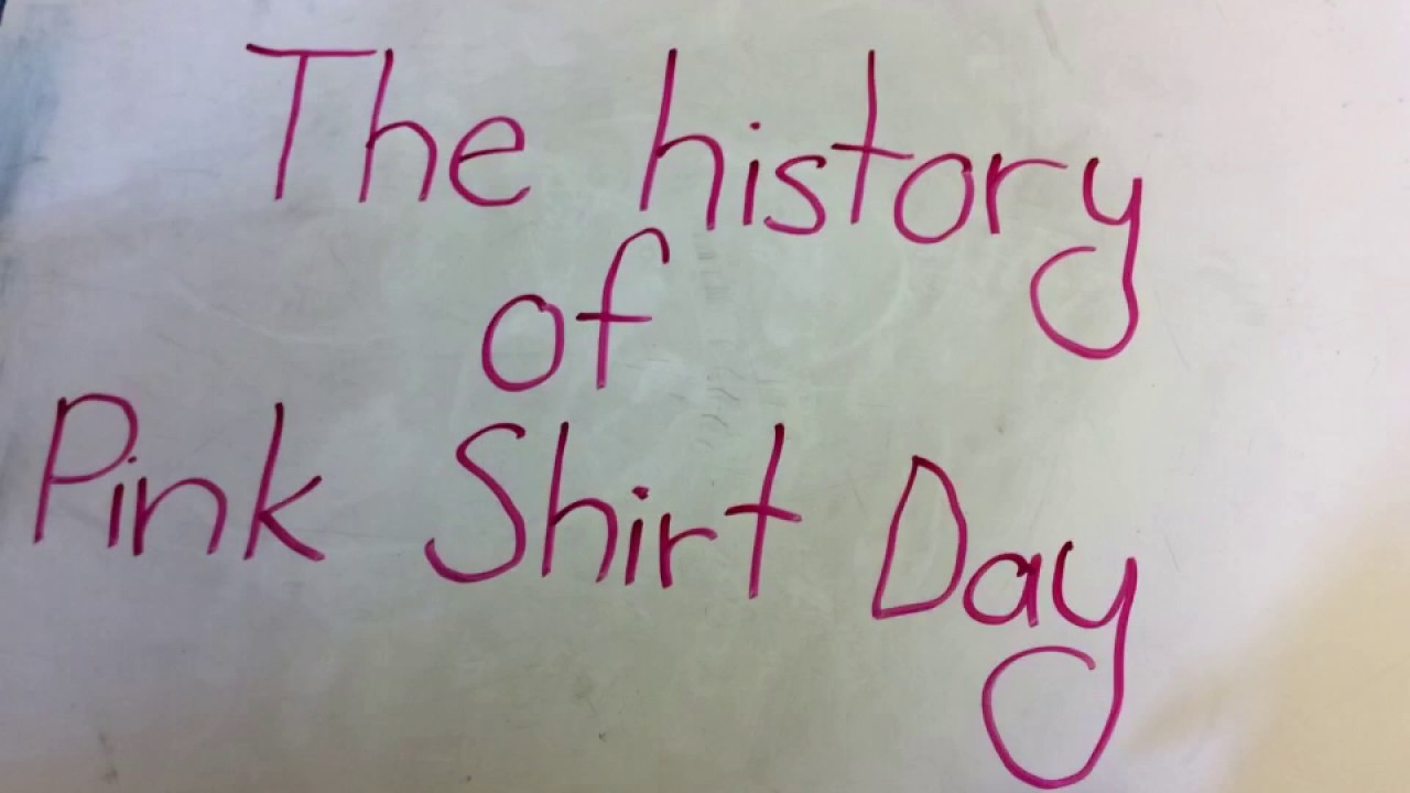 The History of Pink Shirt Day - YouTube
