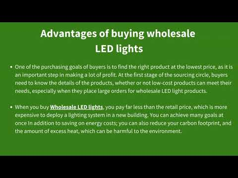 Reduce Your Initial Installation Cost By Buying Wholesale LED Lights