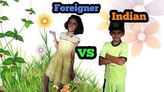 Indian VS Foreigner || Diom Gor || ft. Vrutika Datta ||