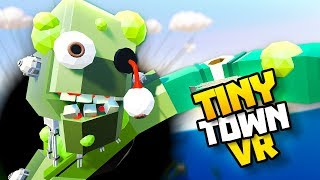 ZOMBIE ROBOT CLIMBS OUT OF BLACK HOLE! - Tiny Town VR Gameplay Part 84