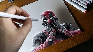 Deadpool 3D Drawing