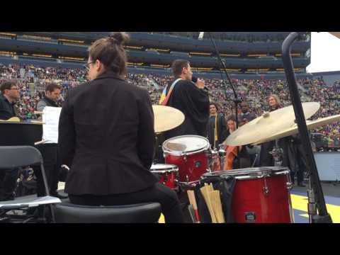 "Benj Pasek and Justin Paul perform ""City of Stars"" at UM graduation"