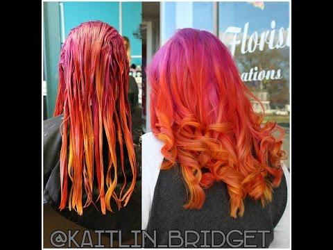 Pulp Riot Hair Color Transformation - Sunrise Hair Color using Jam