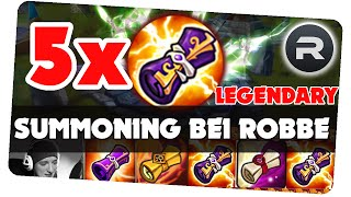 5 LEGENDARY SCROLL opening bei Robbe || Summoners war [German/Deutsch iOS Android APP]