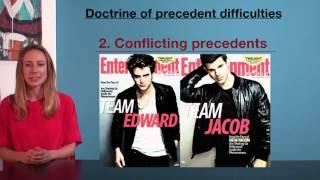 VCE Legal Studies - Doctrine of precedent difficulties