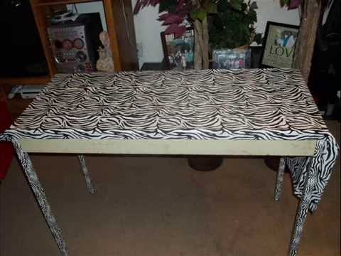 Good DIY Zebra Print Table Design Inspirations