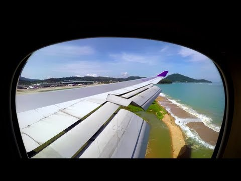 Thai Airways 747-400 | Bangkok to Phuket in 3 Minutes | FULL FLIGHT Timelapse!