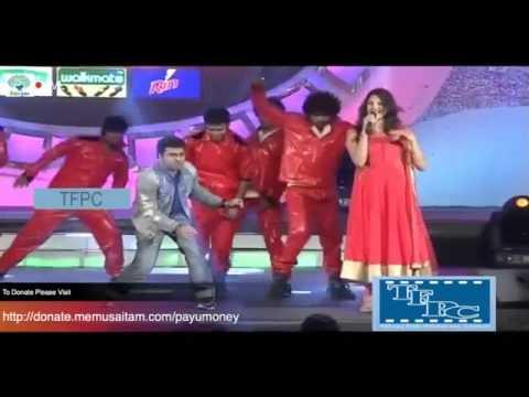 DSP and Geetha Madhuri performing Rakhi Rakhi songMemu Saitam For Vizag Hudhud